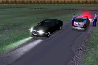 ANIMAȚIE GRAFICĂ. Cum a fost împușcat în cap pasagerul mașinii urmărite în Constanța