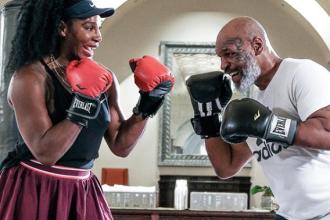 """Serena Williams a """"intrat în ring"""" cu Mike Tyson. VIDEO cu antrenamentul celor doi"""