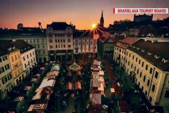 Târgul de Crăciun de la Bratislava. Mâncare locală, atmosferă de basm și o bijuterie arhitecturală