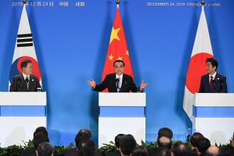Summit China - Japonia - Coreea de Sud. Ce decizie au luat legat de SUA și Coreea de Nord