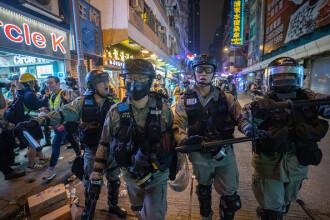 Proteste în Hong Kong. Poliția a folosit gaze lacrimogene pentru a dispersa manifestanţii