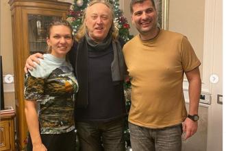 """Simona Halep, colindată de Ștefan Hrușcă: """"O seară de neuitat"""""""