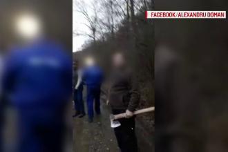 VIDEO. Bătaie cu topoare într-o pădure din Plopu. De la ce ar fi pornit scandalul