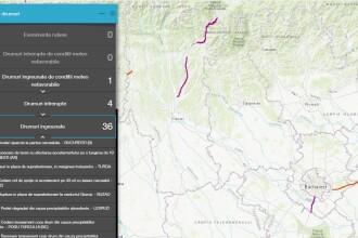 Drumuri închise. Unde poți verifica, în timp real, starea drumurilor din România