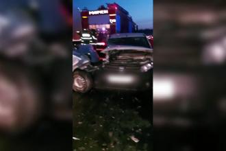 Carambol pe DN 72 între Târgovişte și Găești. Trei mașini au fost serios avariate