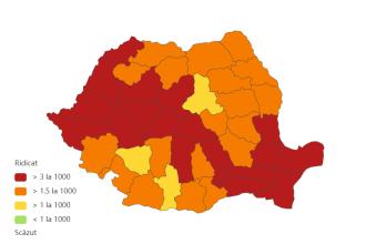 Lista județelor cu cele mai multe noi cazuri de COVID-19. Incidență de peste 7 la mie în Constanța și Ilfov