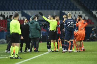 Meciul PSG - Istanbul Başakşehir, suspendat după cuvintele rasiste ale arbitrului de rezervă Sebastian Colţescu