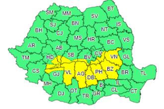 Cod galben de ploi și ninsori abundente în țară. Până când este valabil
