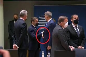 VIDEO. Președintele Macron, confirmat cu Covid-19, a stat aproape de Iohannis la Bruxelles