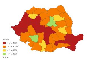 Județele cu cele mai multe cazuri noi de COVID-19. Incidență de 6,64 la mie în Capitală