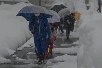O masă de aer rece va pune stăpânire treptat pe întreaga ţară. Unde vor cădea cele mai multe ninsori