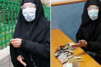Un bărbat s-a deghizat în măicuță și le-a cerut bani enoriașilor lângă o biserică din Capitală. Câți bani a strâns