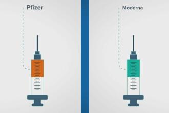 Comparație între vaccinurile Pfizer și Moderna. Ce asemănări și diferențe sunt între cele două