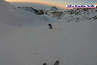 """Regatul de zăpadă de la Bâlea îi face fericiți pe turiști. """"Locul ăsta e ca o eliberare"""""""