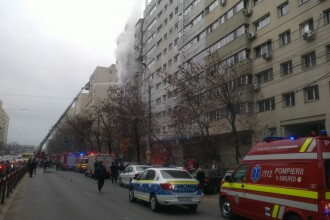 Incendiu într-un bloc de pe Şoseaua Colentina din București. Degajări mari de fum în zonă