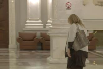 """Cum a venit azi senatoarea AUR Diana Sosoaca la Parlament, dupa ce ieri nu a purtat masca. """"Nu mai discut"""""""