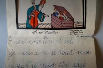 O scrisoare adresată lui Moş Crăciun în anii '30, descoperită din întâmplare de arheologi în Alsacia