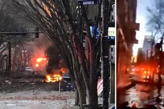 VIDEO. Explozie violentă în orașul american Nashville. Poliția locală: