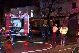 Incendiu la un restaurant din Capitală, luni noapte. Angajații au reușit să iasă pe fereastră