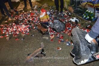 Mii de pachete de țigări de contrabandă ascunse în pitici de grădină, descoperite la Botoșani GALERIE FOTO