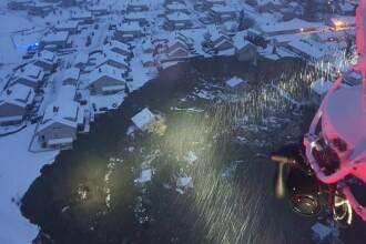 Alunecare de teren de proporţii în Norvegia. Peste 150 de persoane evacuate. Sunt cel puțin 5 răniți