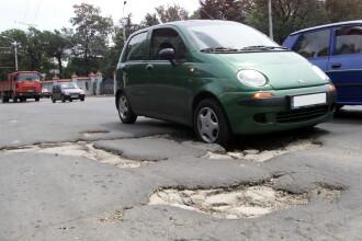 A inceput marea asfaltare in Capitala! Bulevardele, peticite