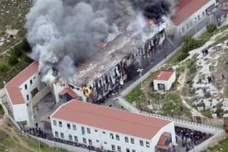 Revolta in Italia! Imigrantii ilegali au incendiat un centru de detentie