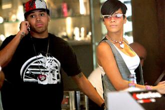 Rihanna si Chris Brown au mers la un meci de baschet!