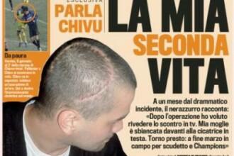 Cristi Chivu s-a ales cu o cicatrice monstru dupa operatia la cap!
