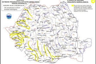 Vin inundatiile. E cod galben pentru vestul si sud-vestul tarii