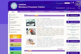 Site-ul Ministerului Finantelor, VIOLET! Vezi ce a zis Andrei Gheorghe