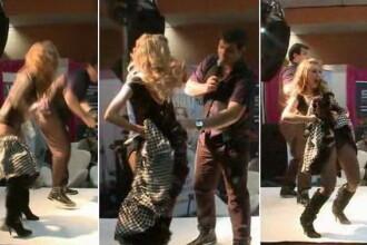 Andreea Balan a ramas fara fusta in timpul unui concert. VIDEO