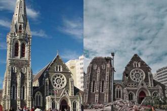 Inainte si dupa: cum a schimbat cutremurul Noua Zeelanda. FOTO si VIDEO