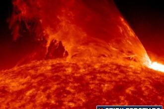Imagini spectaculoase cu o noua explozie solara. VIDEO