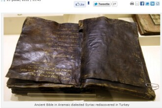O Biblie veche de 1.500 de ani ar putea schimba istoria crestinismului. Contine o profetie inedita