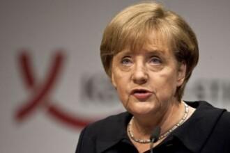 Merkel a discutat la telefon cu Basescu: Este inacceptabila incalcarea statului de drept in Romania