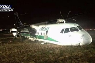 Filmul accidentului in care a fost implicat un avion Carpatair. Pasager: