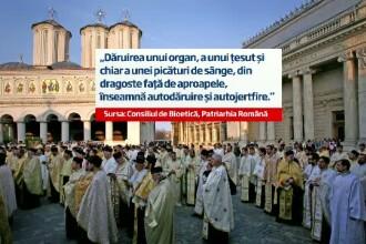 Biserica sustine transplantul de organe.