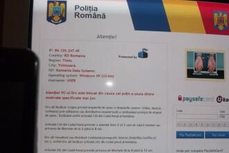 "Virusul ""Politia Romana"" face ravagii pe internet. Va cere bani si va blocheaza calculatorul"