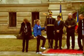 Torta olimpica a FOTE a plecat spre Brasov. Basescu: