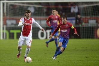 STEAUA a fost invinsa de AJAX Amsterdam, scor 0-2, in Europa League. VIDEO