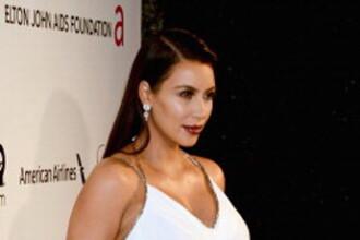 Surpriza oferita fanilor de Kim Kardashian. Cum si-a pozat burtica de gravida