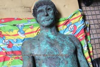Statuie veche de 2.000 de ani, rapita de teroristi in fasia Gaza. Ce au cerut in schimbul ei