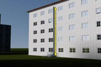O persoana a murit la Iasi, iar alte doua au fost grav ranite dupa ce s-au prabusit cu un lift exterior, adus din Germania