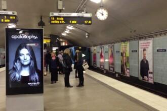 Una dintre cele mai spectaculoase reclame. Ce se intampla cu parul femeii cand se apropie metroul. VIDEO