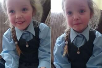 Reactia emotionanta a unei fetite cand afla ca va avea o surioara. VIDEO