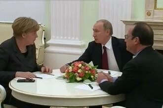 Primele reactii dupa negocierile de la Moscova. Angela Merkel: Nu stim sigur daca discutiile cu Vladimir Putin vor functiona