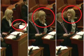 Cele 4 posibile explicatii ale gestului facut de Elena Udrea in Parlament. Ce pareri au specialistii in limbajul non-verbal