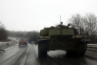 Kiev: 50 de tancuri rusesti au intrat in Ucraina chiar in timpul negocierilor pentru pace