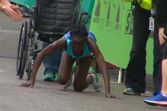 Ambitia uriasa a unei atlete din Kenya, care a ocupat locul trei dupa ce s-a tarat in genunchi pana la linia de sosire